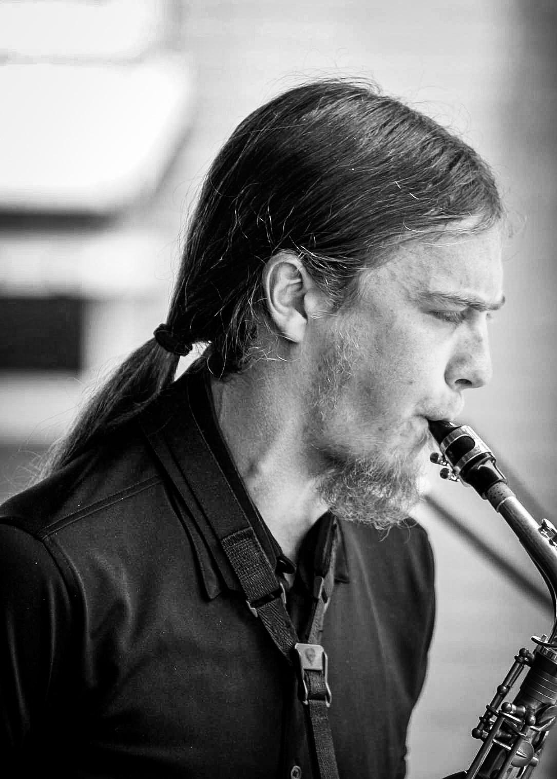 Daniel playing the sax
